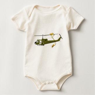 Zentaur Bell UH-1 Huey mit Vietnam-Bild Baby Strampler