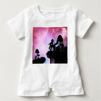 Zentaur-Silhouette in der Nacht Baby Strampler