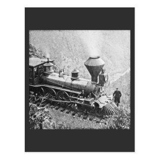 Zentrale pazifische Eisenbahn-Kap Hoorn CA Postkarte