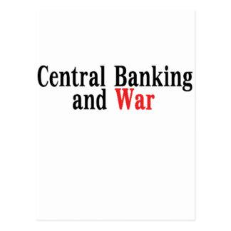 Zentrales Bankwesen und Krieg Postkarte