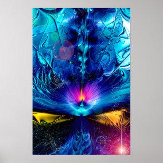 Zerbrechen abstrakt poster
