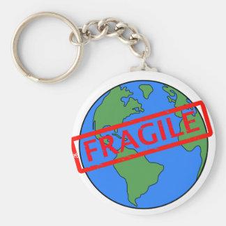 Zerbrechliche Erde Keychain Schlüsselanhänger