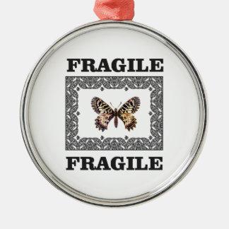 zerbrechlicher Schmetterling Silbernes Ornament