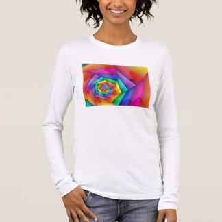 Zerbrochener Regenbogen-Gay Pride Lang-Sleeved T - Langarm T-Shirt