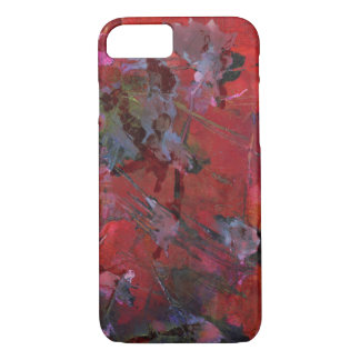 Zerbrochener roter und schwarzer Schmutz iPhone 8/7 Hülle