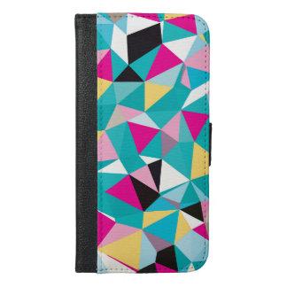 Zerbrochenes geometrisches Muster iPhone 6/6s Plus Geldbeutel Hülle