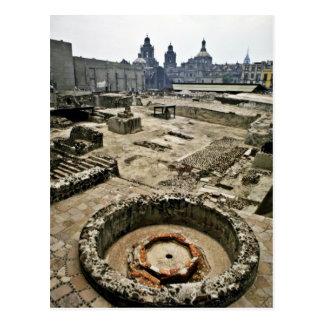 Zeremonieller Bereich von Templo Bürgermeister, Postkarte