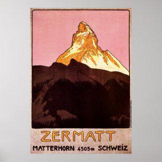Zermatt die Schweiz Poster