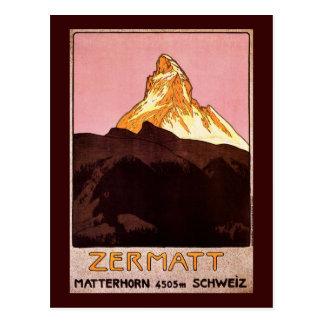 Zermatt die Schweiz Postkarte