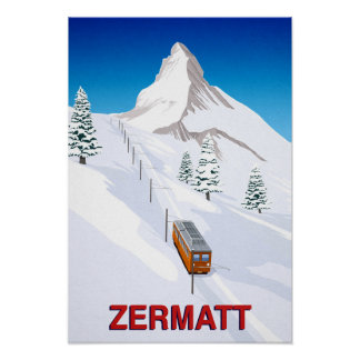 Zermatt Swizerland Ski-Zug Poster