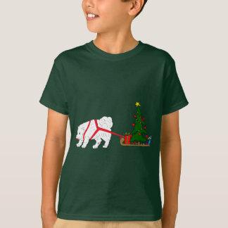 Zerren Sie den Samoyed, der Weihnachtsbaum zieht T-Shirt