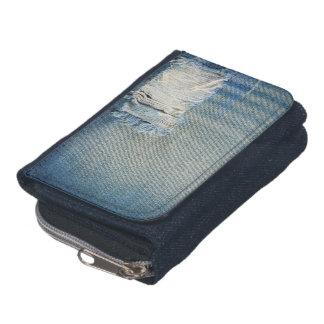 Zerrissene Denim-Blue Jeans mit zerrissenen Faden