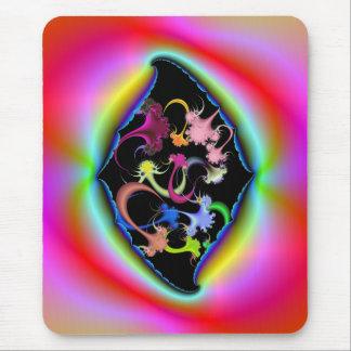 Zerrissener psychedelischer Rahmen Mousepad