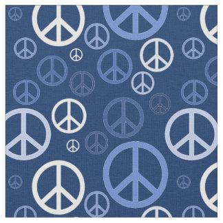 Zerstreute Friedenszeichen blaues SPST Stoff