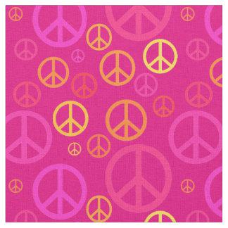 Zerstreute Friedenszeichen rosa SPST Stoff