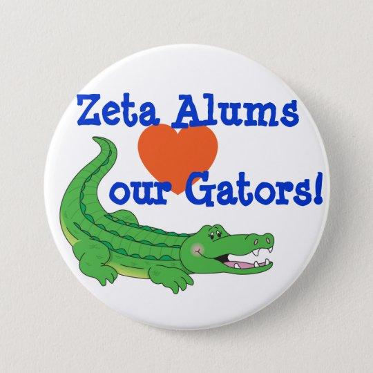 Zeta-Lieben das AlligatorButton Runder Button 7,6 Cm