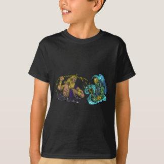 ZeusThunderbolt gegen Poseidon Trident Tätowierung T-Shirt