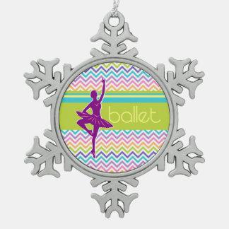 Zickzack-Ballett Schneeflocken Zinn-Ornament