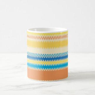 Zickzack bunter Zickzack-Streifen dekorativ Kaffeetasse