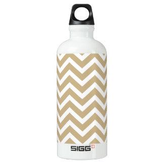 Zickzack gewellte Streifen im Weihnachtsgold u. Wasserflasche