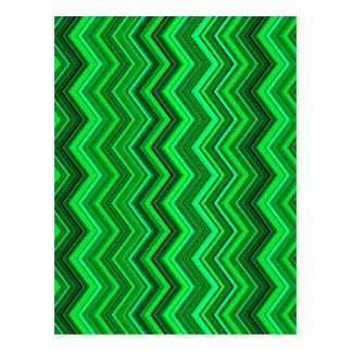 Zickzack-Grüntöne Postkarte