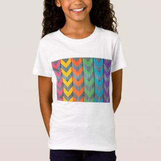 Zickzack Muster auf hölzerner Beschaffenheit T-Shirt