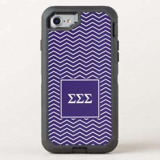 Zickzack Muster des Sigma-Sigma-Sigma-| OtterBox Defender iPhone 7 Hülle