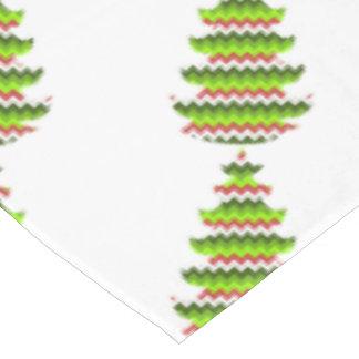 Zickzack Muster-Feiertags-Baum-Entwurfs-Zickzack Tischdecke
