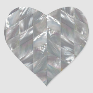 Zickzack Perlmutt Herz-Aufkleber