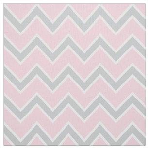 Zickzack rosa Graues des Streifen-Muster-  und Stoff