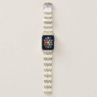 Zickzack Streifen-Goldapple-Uhrenarmband 42MM Apple Watch Armband