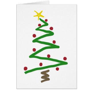 Zickzack-Weihnachtsbaum-Malerei Karte