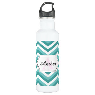 Zickzack Zickzackwassermuster des frischen Trinkflasche