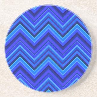 Zickzackmuster der blauen Streifen Getränkeuntersetzer