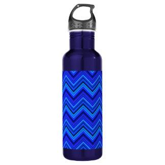 Zickzackmuster der blauen Streifen Trinkflasche