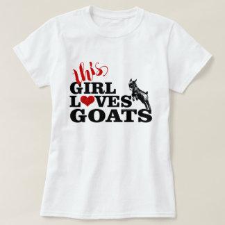 ZIEGE | dieses Mädchen-Liebe-Ziegen-Pygmäe-Baby T-Shirt