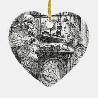 Ziege Shopkeeperand Alice Keramik Ornament