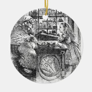 Ziege Shopkeeperand Alice Rundes Keramik Ornament