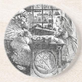 Ziege Shopkeeperand Alice Untersetzer