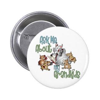 Ziegen-großartige Kinder - Großmutter Runder Button 5,1 Cm