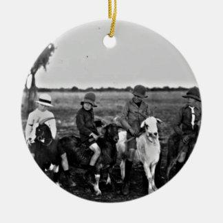 Ziegen-Reiter der Vergangenheit Keramik Ornament