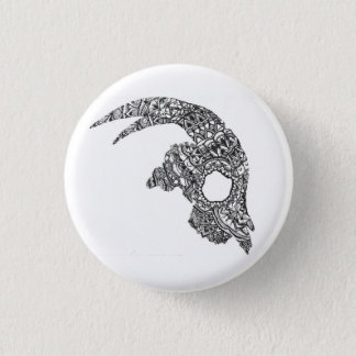 Ziegen-Schädel Runder Button 2,5 Cm