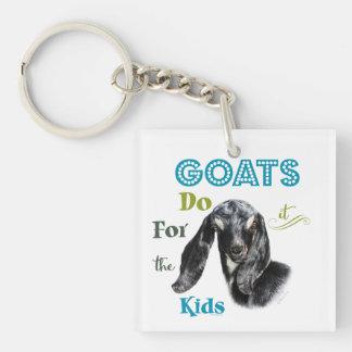 ZIEGEN   tun es für die Kinder GetYerGoat™ Beidseitiger Quadratischer Acryl Schlüsselanhänger