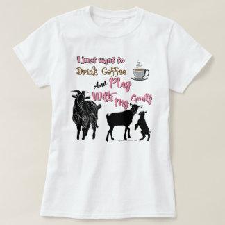 ZIEGEN | wollen, um Kaffee u. Spiel mit Ziegen zu T-Shirt