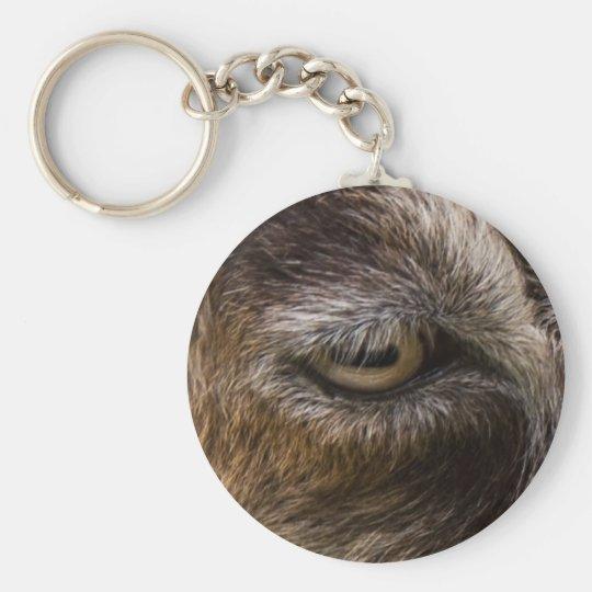 Ziegenauge keychain standard runder schlüsselanhänger