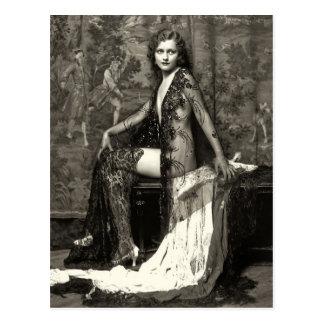 Ziegfeld Mädchen-Franzose-Postkarte Postkarte