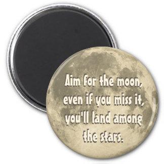Ziel für den Mond Runder Magnet 5,7 Cm