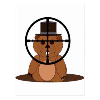 Ziel: groundhog postkarte