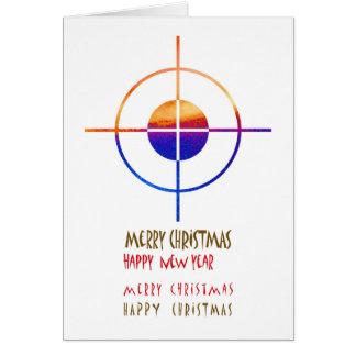 Ziel-Symbol: Frohe Weihnacht-Weihnachten Grußkarte