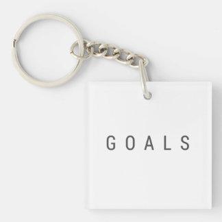 Ziele Beidseitiger Quadratischer Acryl Schlüsselanhänger